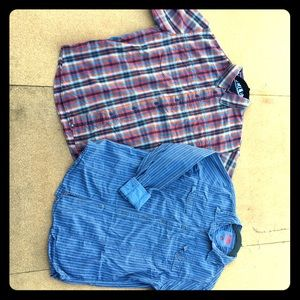 Hurley S/S & FCUK L/S Button Down Casual Shirts